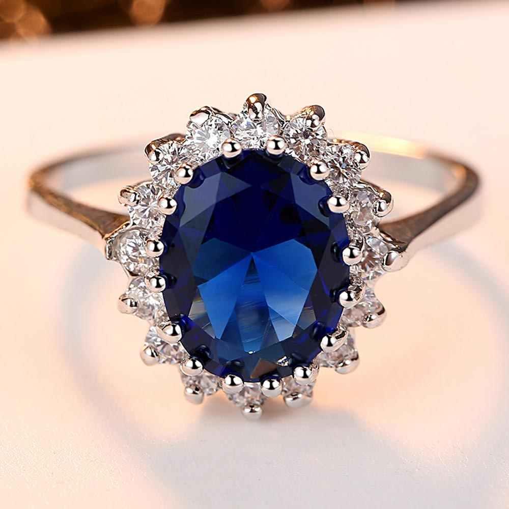 Beiver ファッション花 cz の結婚指輪ロジウムメッキ 3 色 aaa キュービックジルコニアジュエリー女の子ベストギフト