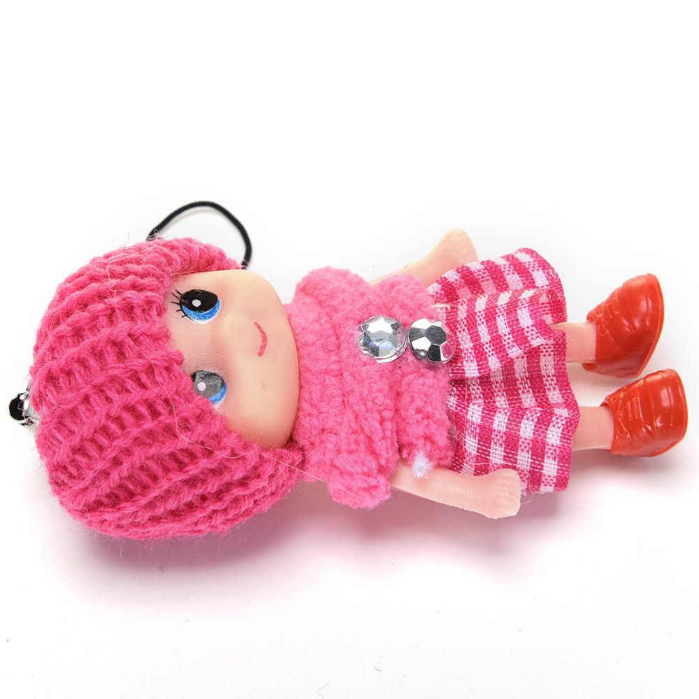 Nowy śliczne mini lalki wisiorek Kawaii dzieci dziecko pluszowe zwierzęta Cartoon Movie interaktywne pluszowe zabawki na prezent dla dziewcząt chłopców zabawki 1 Pc