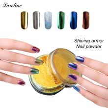 Saroline блеск Выбор Chrome Nail Art Гель-Лак Зеркало Порошок Блестки Ногтей Украшение Искусства Ногтя Порошок Пигмент