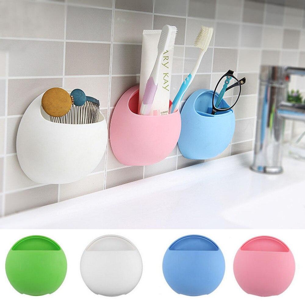 Eggs Toothpaste Dispenser Toothbrush Holder Suction Hooks