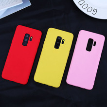 Phone Case For Samsung Galaxy S9 Plus S8 S10 Lite A7 A8 A6 2018 Simple Solid Color Ultrathin Soft TPU Candy Back Cover