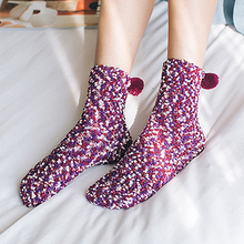 New Women Winter Thicken Knitted Thermal Socks Cake Creative Cotton Warm Explosion Modelscute Without Box