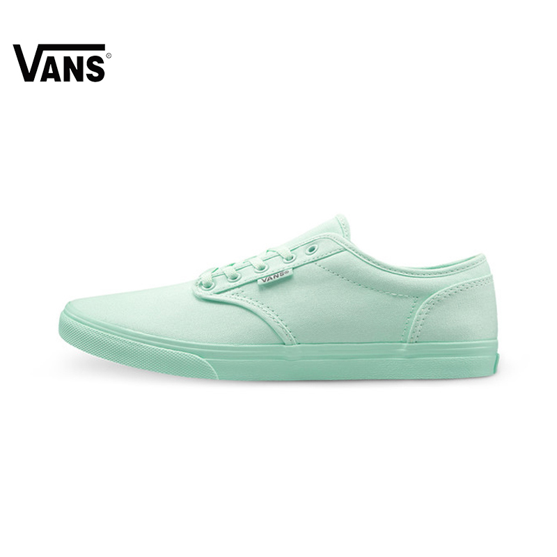 Original Vans New Arrival Summer Green Color Low-Top Women's Skateboarding Shoes Canvas Sneakers free shipping