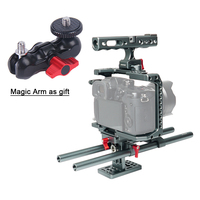 Профессиональной фотографии кролик видео Камера Cage Kit люкс для Panasonic GH4 GH5 с катетер посвященный база парашют