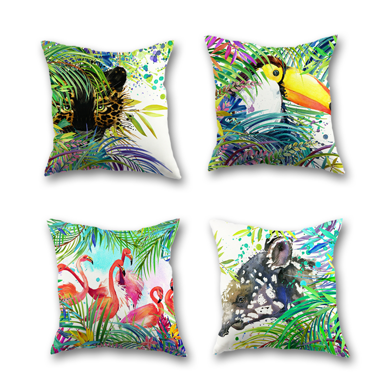buy tropical animal cushion cover european design home flamingo decoration. Black Bedroom Furniture Sets. Home Design Ideas