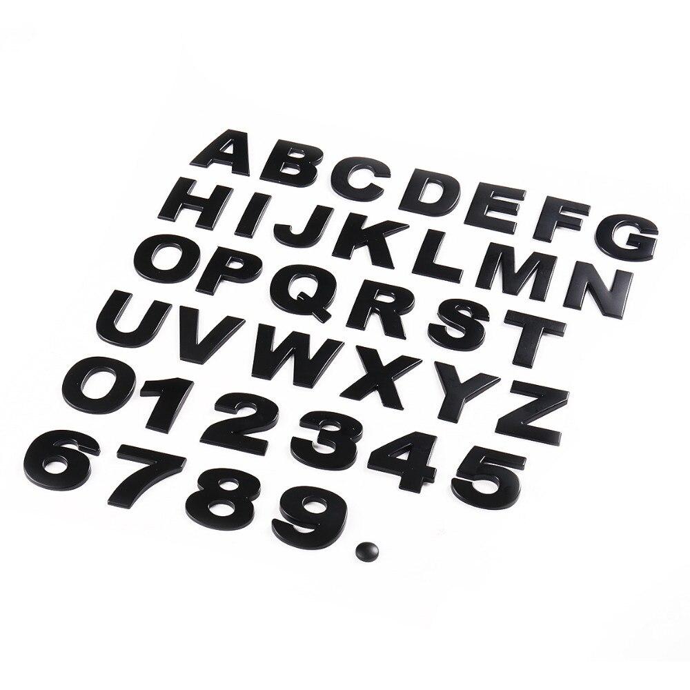 1pcs 45mm 3D Metal DIY Letters Alphabet Emblem Chrome Car Stickers Digital Badge