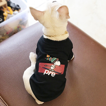 Cotton Letter Print Chihuahua Sweater Pet Dog Clothes for Small Dogs Soft Breathable French Bulldog Tshirt Pug Costume PC0569