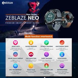 Image 4 - HOT Zeblaze NEO TOUCH สมาร์ทนาฬิกา Heart Rate ความดันโลหิตสมาร์ทสร้อยข้อมือสุขภาพหญิงนับถอยหลัง Call ปฏิเสธนาฬิกา