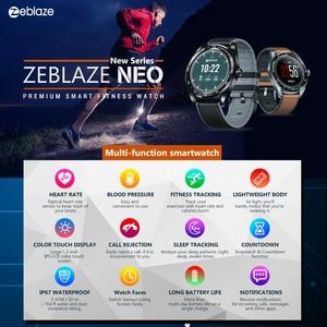 Image 4 - HOT Zeblaze NEO Touch Display Smart Watch frequenza cardiaca pressione sanguigna braccialetto intelligente salute femminile conto alla rovescia chiamata rifiuto orologio
