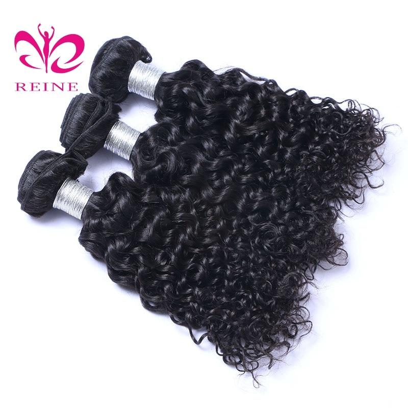 REINE волна воды пучки волос плетение 3 предмета-человеческих Инструменты для завивки волос натуральный Цвет 8-26 дюймов Бесплатная доставка