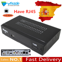 Vmade Satellite digital receiver tv box dvb s2 hd tv tuner decoder with IKS Youtube have RJ45 network interface usb recording