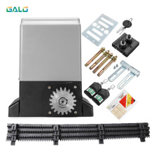 Low price 220VAC garage gear drive automatic sliding gate opener /sliding gate motor 800kg 1000kg 1500kg Optional galvanized steel gear rail rack for sliding gate opener one meter per unit with three mounting bolts gate zipper