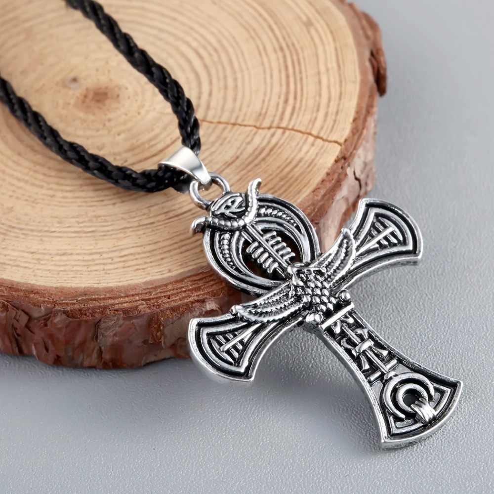 CHENGXUN Norse amulet Wikinga wisiorek naszyjnik krzyż celtycki irlandii Druid wisiorek naszyjnik mężczyzn biżuteria