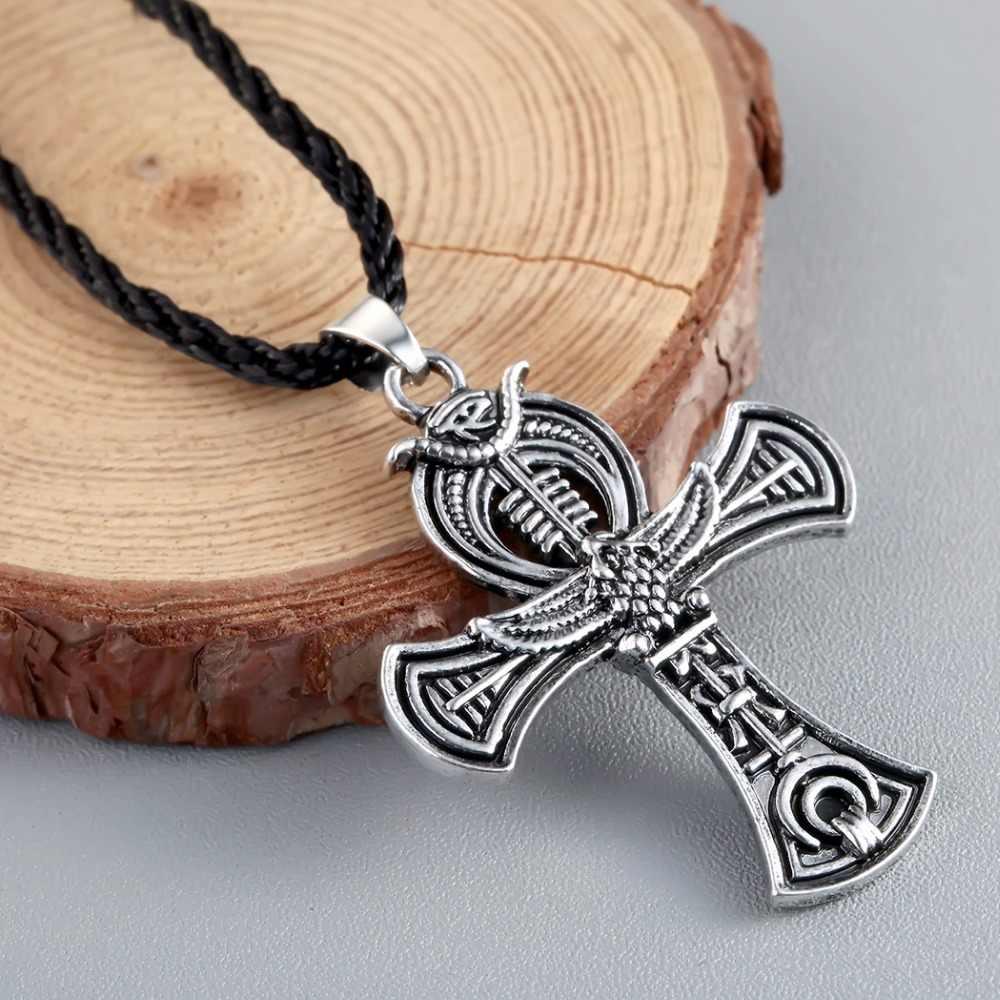 Chengxun nórdico viking amuleto pingente colar cruz celta druida irlandês pingente colar masculino jóias