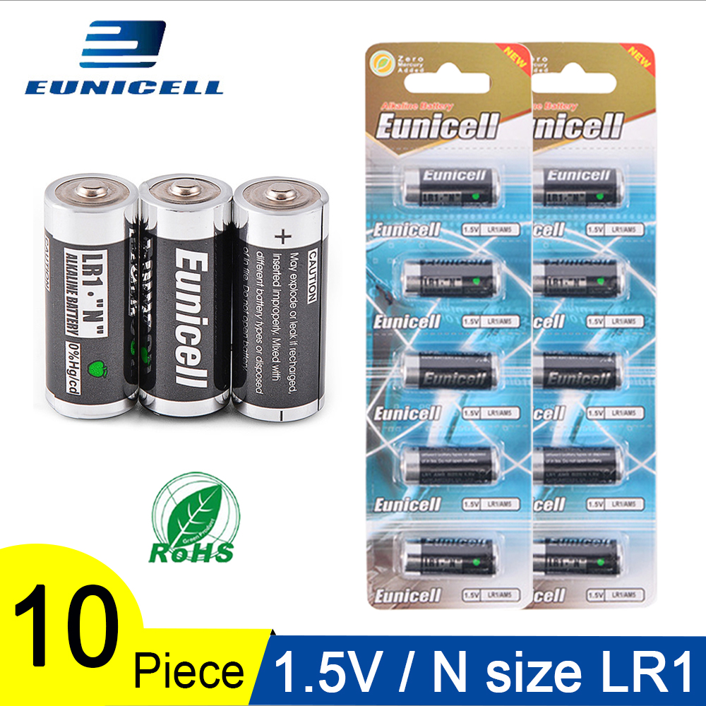 10PCS 1.5V N Size LR 1 Alkaline Dry Battery LR1 AM5 E90 AM5 MN9100 15A 910A Batteries For Toys, Speaker, Bluetooth, Players, MP3