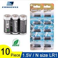 Pilas alcalinas secas LR1 AM5 E90 AM5 MN9100 15A 910A para juguetes  altavoces  Bluetooth  reproductores  MP3  10 Uds 1 5 V N Size LR 1|Baterías primarias y secas|Productos electrónicos -