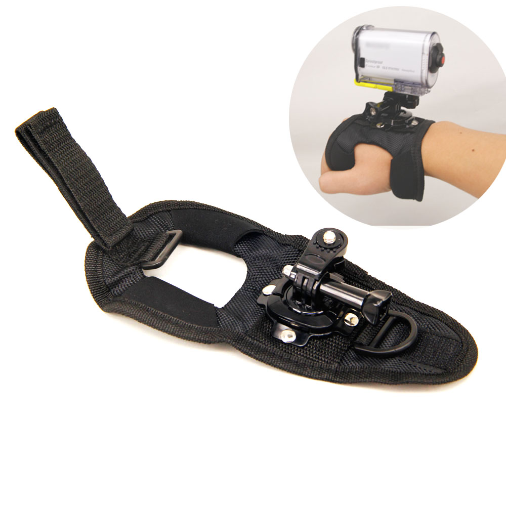 360 Degree Swivel Hand Strap Wrist Band for Sony Action Cam Accessories HDR-AS100VR AS30V AS200V AZ1 X1000v AS50 X3000 Parachute