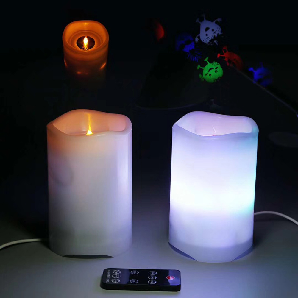 Projection Lamp Flameless LED Candle Battery Operated with Candy Moon Projection Remote Control JDH99