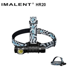 IMALENT HR20 Cree XP-L Flashlight Touch 1000lm Led Headlamp w/USB Charging Port Tactical Headlight by 18650 Battery Self Defense