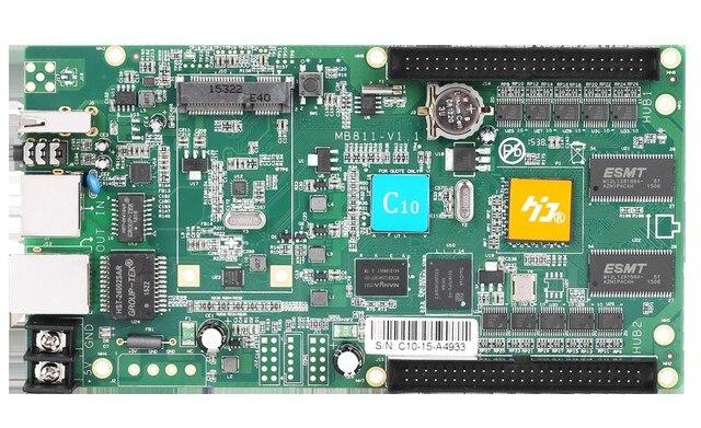 HD C10 المتزامن hub75 اجهة بيانات rgb كامل اللون أدى عرض بطاقة التحكم ، 112 × 1024 بكسل ، lan usb بطاقة التحكم