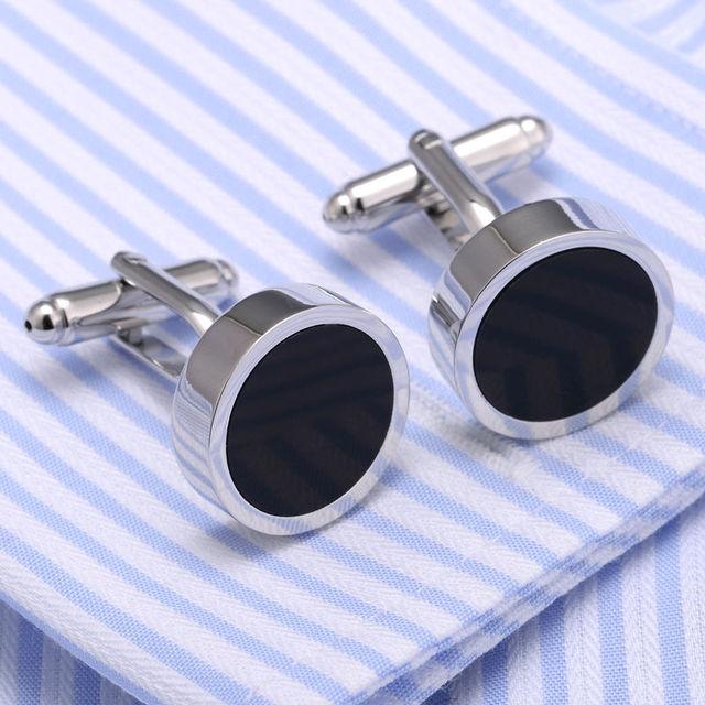 Brass Necktie Tie Bar Cufflinks Clip High Cuff Links Pin Jewelry 20