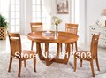 SOLID WOOD DINING ROOM FURNITURE, FACTORY WHOLESALE, OAK CHAIR AND DESK SET,ROUND DESKT-605