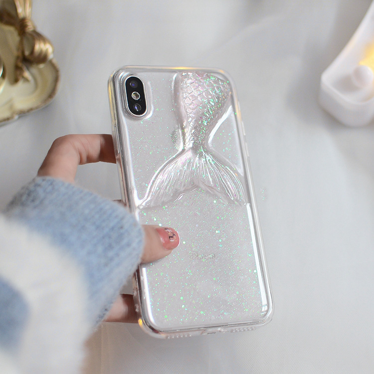 Case For Huawei P8 P9 P10 Plus P20 Lite pro Honor 8 Pro V9 V10 7X Cute summer women glitter Mermaid tail soft Phone case Capa