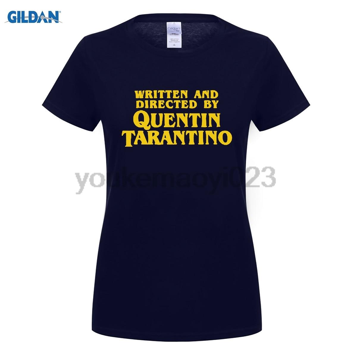 escrito-e-dirigido-por-quentin-font-b-tarantino-b-font-amarelo-variante-camisa-de-t-para-mulheres