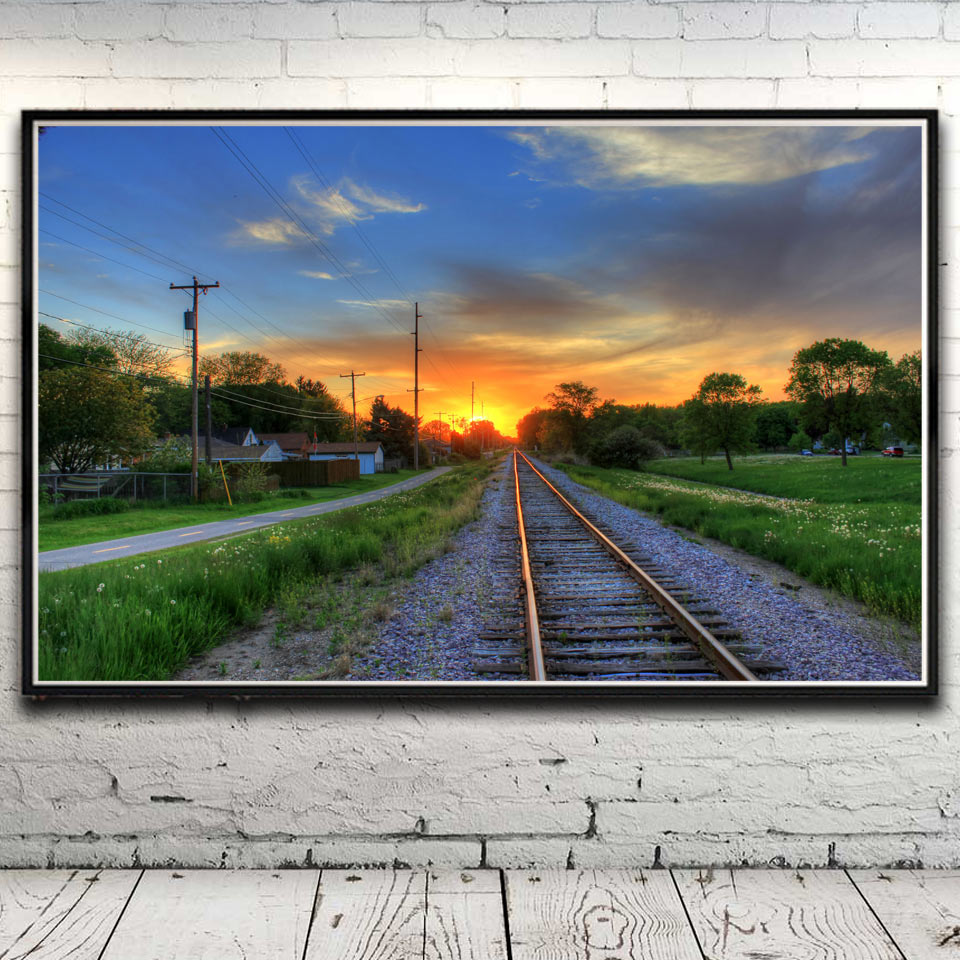 Road Tunnel Railway Trees Landscape Art Silk Poster Home Decor Pictures 12x19 15x24 19x30 22x35 Inches No Frame Free Shipping