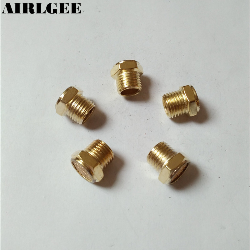 5 x Pneumatic 1/4 PT Male Thread Filter Absorb Noise Exhaust Silencer Muffler Free shipping 3 x adjustable 1 4 pt thread sc sintered bronze exhaust muffler throttle valve