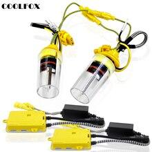 Coolfox 12В 55 Вт Набор для биксенона ксенон H4 H7 H1 H11 H8 HB3 HB4 9005 9006 D1S 6000 k HID Ксеноновые фары автомобиля свет лампы блок зажигания
