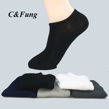 C Fung 10Pairs set Fashion Men Socks High Quality Bamboo Socks Brief sock Slippers bamboo fiber