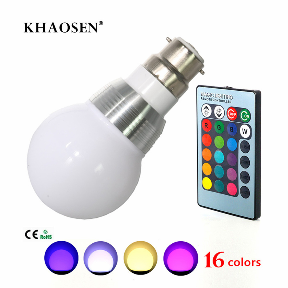 Led Bulbs Rgb Led Bulb E27 E14 16 Color Changing Light Candle Bulb Rgb Led Spotlight Lamp Ac85 265v 3w Spotlight 16 Color Changing Light Candle Bulb B22 E27 E14 Led