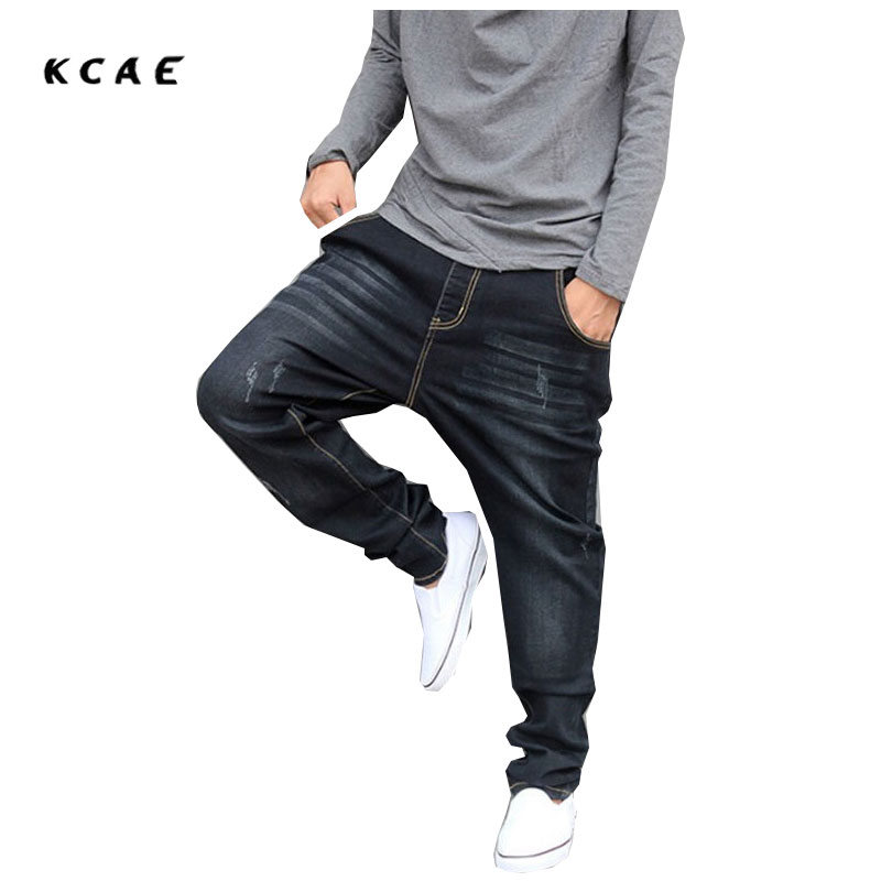 Harem Jeans Men Plus Size Mens Joggers Casual Male Hip-Hop Pants Skinny Pants Taper Loose Elastic Pants Pencil Jeans Men Pants