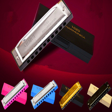 colorful 10 Holes Harmonica C key Diatonica Harmonica Mouth Ogan Harp Musical Instruments 10 Holes Harmonica for choldren