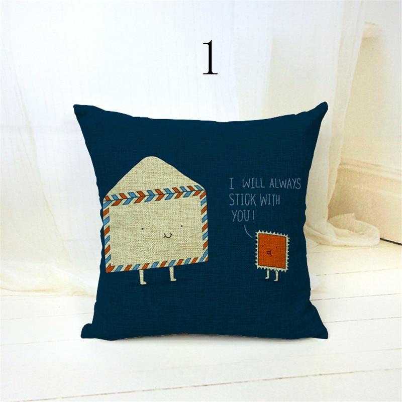 Umschlag mit u gedruckt kissenbezüge wohnkultur platz vintage shabby chic sofa dekokissen...