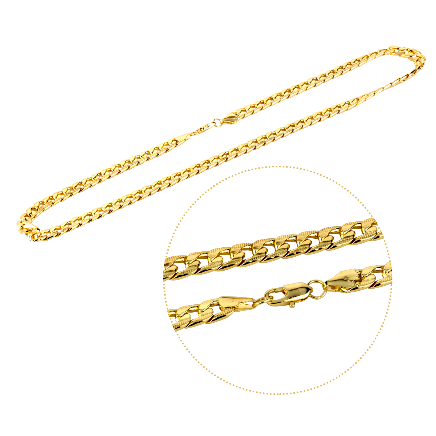 Men's Hiphop Necklace Stainless Steel  Link Chain Gold Black Silver Long Necklace for Men Fashion Jewelry Gift