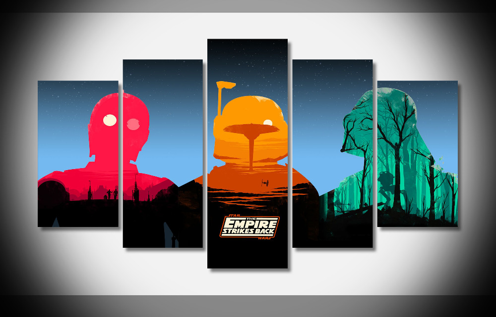 6538 The Boba Fett Helmet Gallery Star Wars Movie posters for teens boys Framed Gallery wrap art print home wall decor
