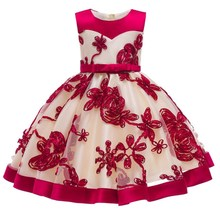 Infant Baby Girls Dress Birthday Party Dress For Newborn NEW Christmas Carnival Lace Floral Baptism Dresses Wedding Baby Clothes
