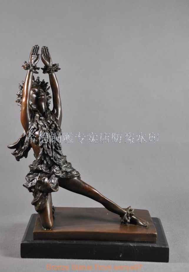 Art Deco Sculpture Hawaiian Dance Hawaii Hula Woman Dancer Bronze Statue Qq Qq Aliexpress