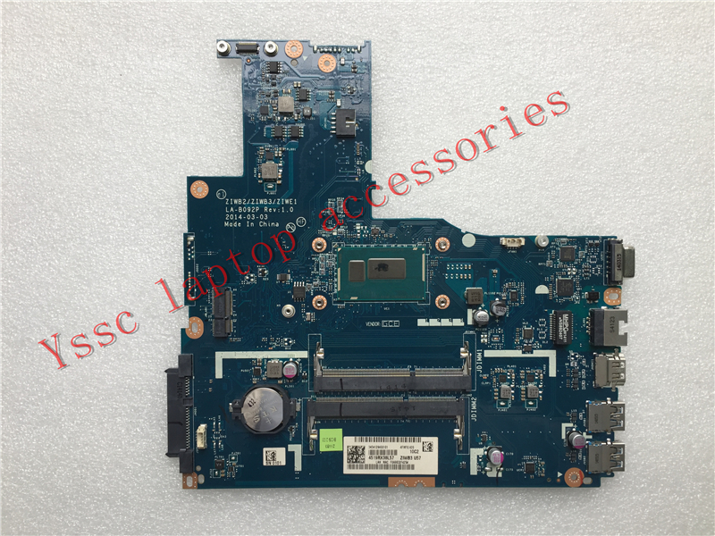 Free Shipping Brand New !!! ZIWB2 ZIWB3 ZIWE1 LA B092P For Lenovo B50 70 motherboard ( For intel 2957U CPU ) Test OK-in Motherboards from Computer & Office    3