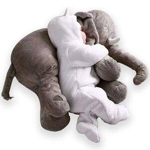 Image 4 - 40cm/60cm Large Elephant Plush Doll Toy Pillow Infant Soft For Sleeping Stuffed  Plush Toys Elephant Figure Kids Doll Toys gift