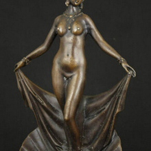 Copper Brass CHINESE crafts Asian Exquisite Chinese Classical Copper Statue - Sexy Beauty