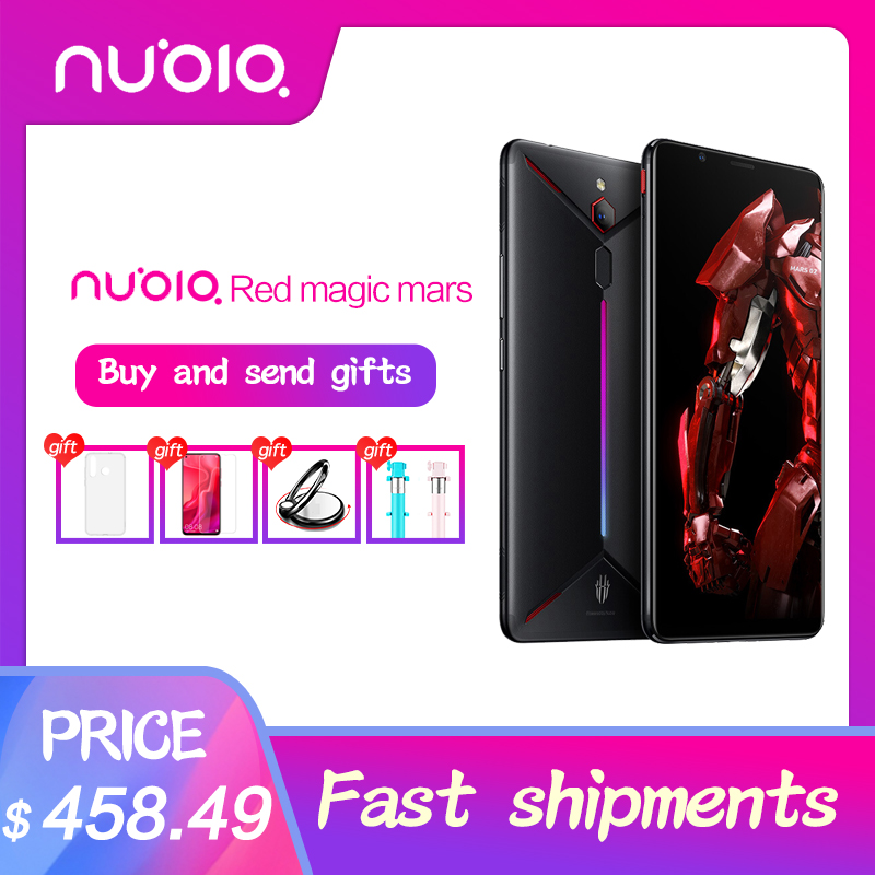 Original ZTE nubia Red Magic Mars Android 9.0 Game Phone 6.0 6GB RAM 64GB ROM Snapdragon 845 Octa core Front 16.0MP Rear 8MP
