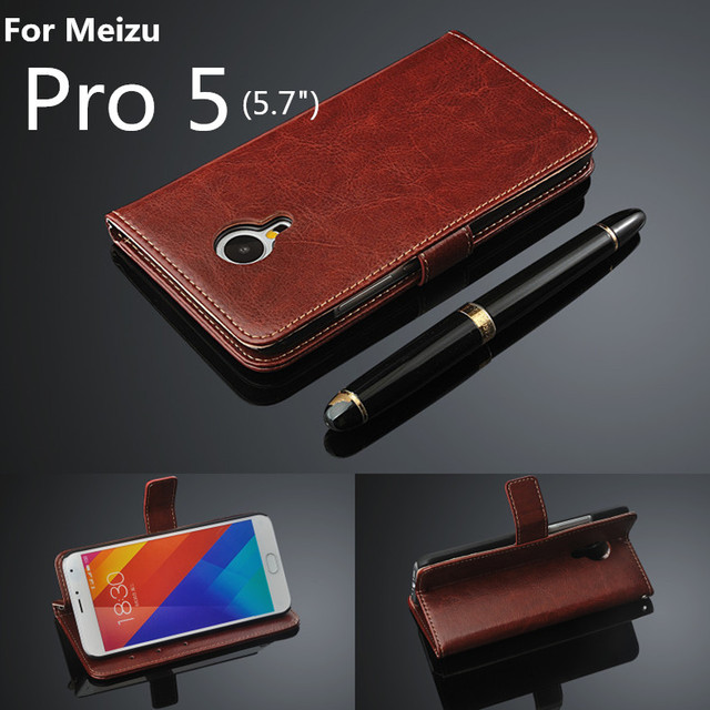 card holder cover case for Meizu Pro 5 leather case ultra thin wallet Phone Case Meizu Pro 5 Holster flip cover Free Shipping