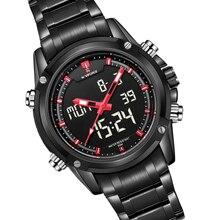 Montres hommes NAVIFORCE marque Sport En Acier Plein Numérique LED montre reloj hombre Armée Militaire montre-bracelet relogio masculino 9050