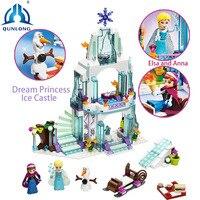 Masal film Prenses Kale Uyumlu Legoe Arkadaşlar Şehir Frozens Prenses Kale Modeli Yapı Taşları Kız Oyuncaklar Rakamlar