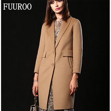 Women Double-side Cashmere Woolen Coats Brand Design High Quality Medium long Fashion New Trench Overcoat W4066 European Size