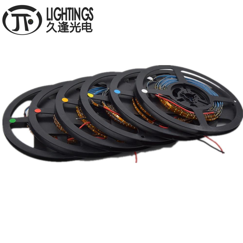 5M 0603/0805 3mm Width PCB 0603 SMD 120leds/m Super Bright LED Strip Red/Green/Blue/White/Warm White Light Strip IP30 DC12V