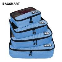 Багажные аксессуары для путешествий 4 комплекта упаковочные Органайзеры для одежды багаж дышащие легкие походные рюкзаки для рубашки брюк...